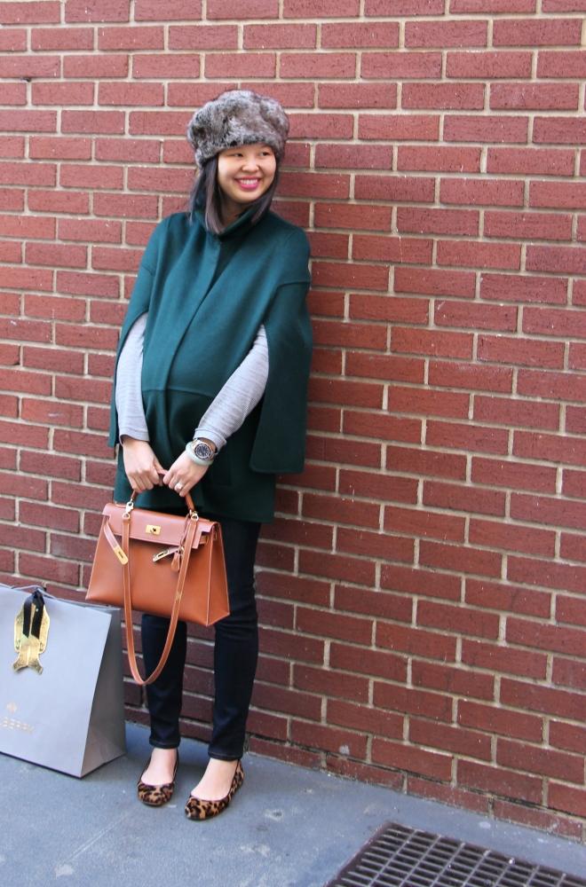 emerald green and brick wall