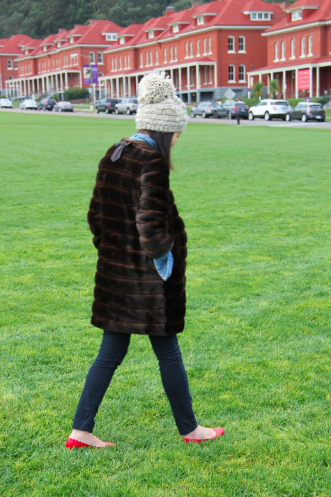 strolling on the green