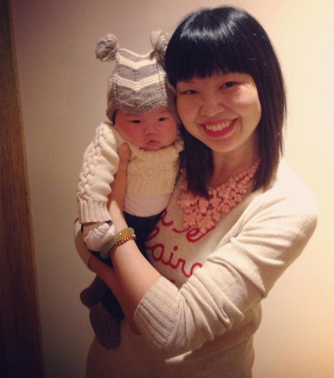 marni (at 7+ weeks old) and me
