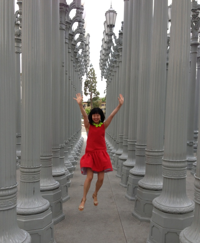 jumping pose at LACMA