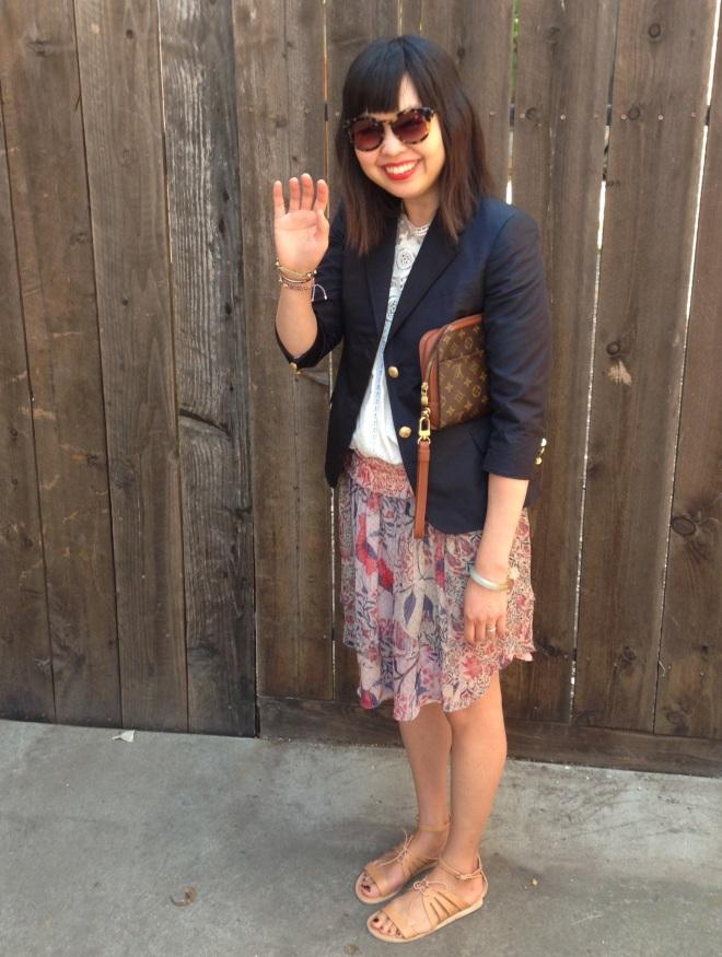 waving at my daughter Marni