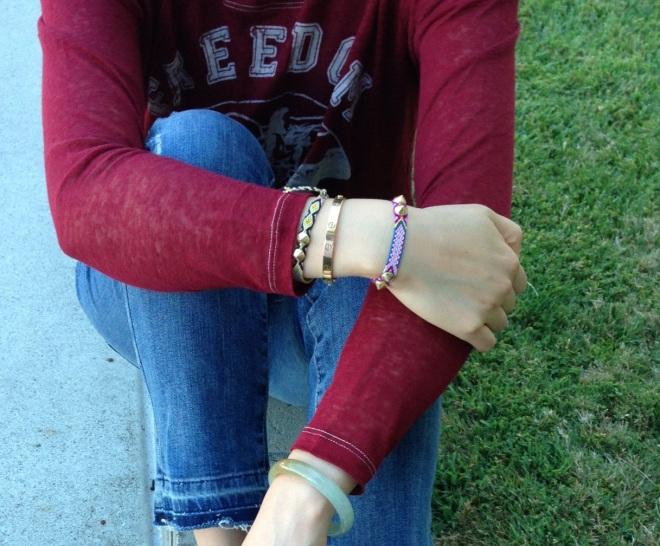 chanael k bracelets arm party