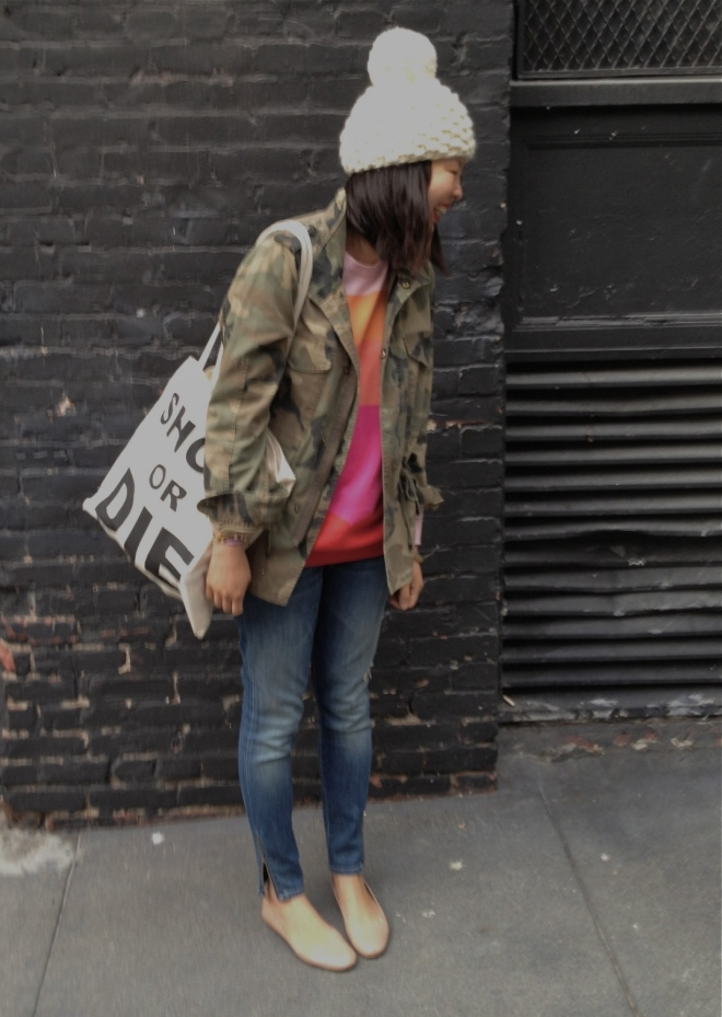 camo and colorblocking
