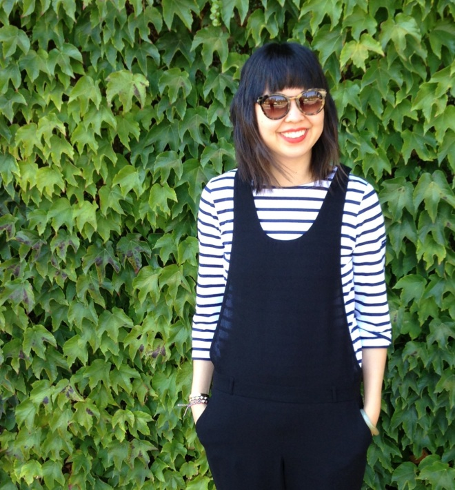 stripes and overalls