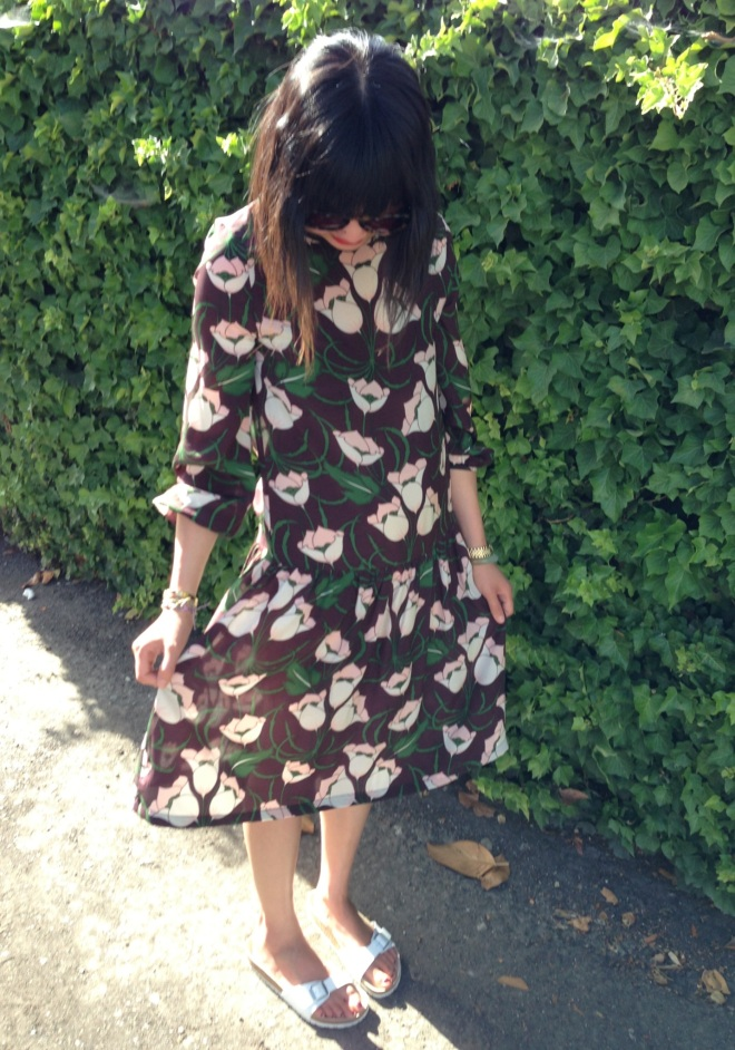 topshop floral print dress by boutique