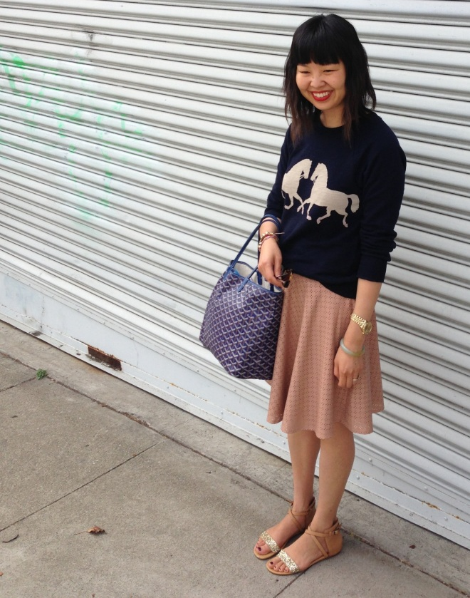 j crew horsing around sweatshirt in navy