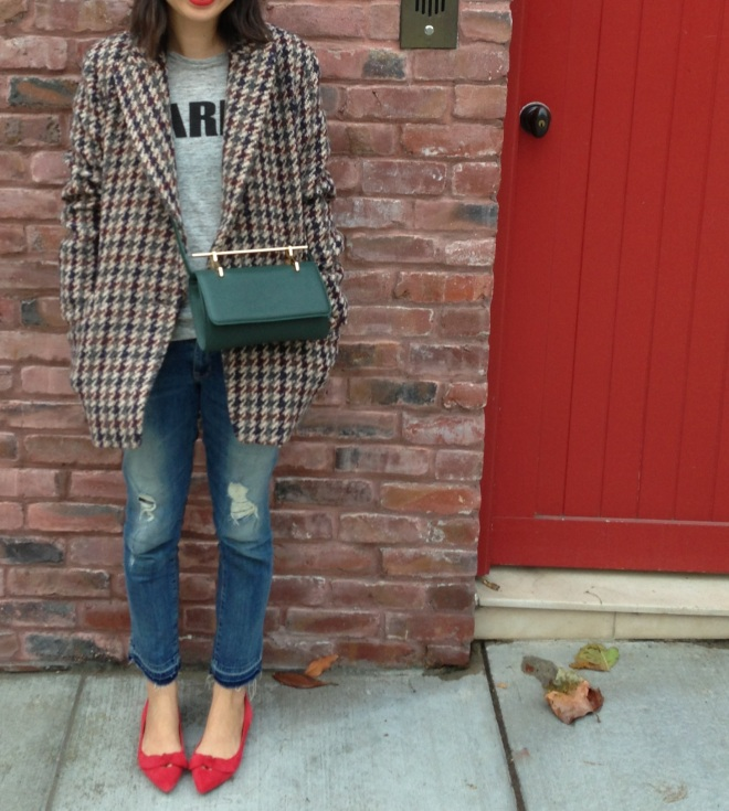 Theory houndstooth coat