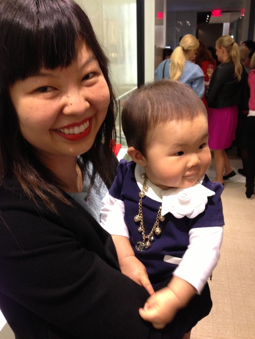 mommy and me at Chanel event