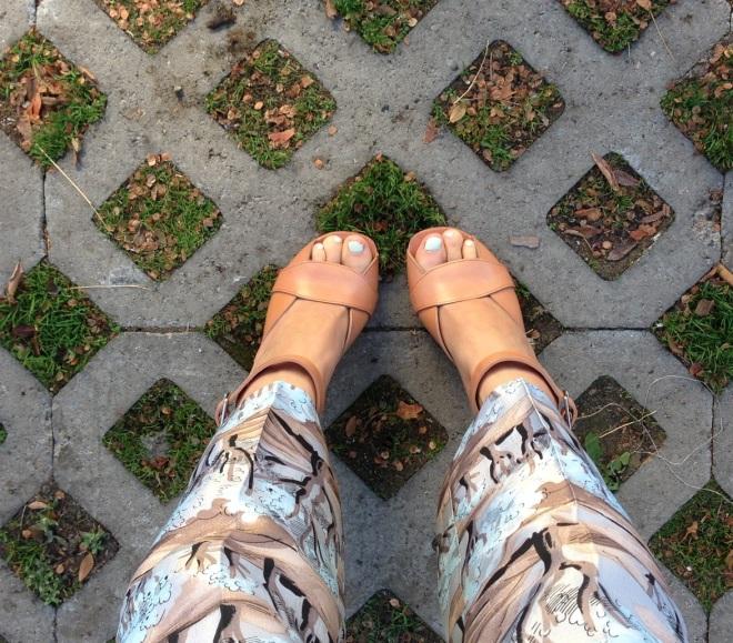 celine camel heels