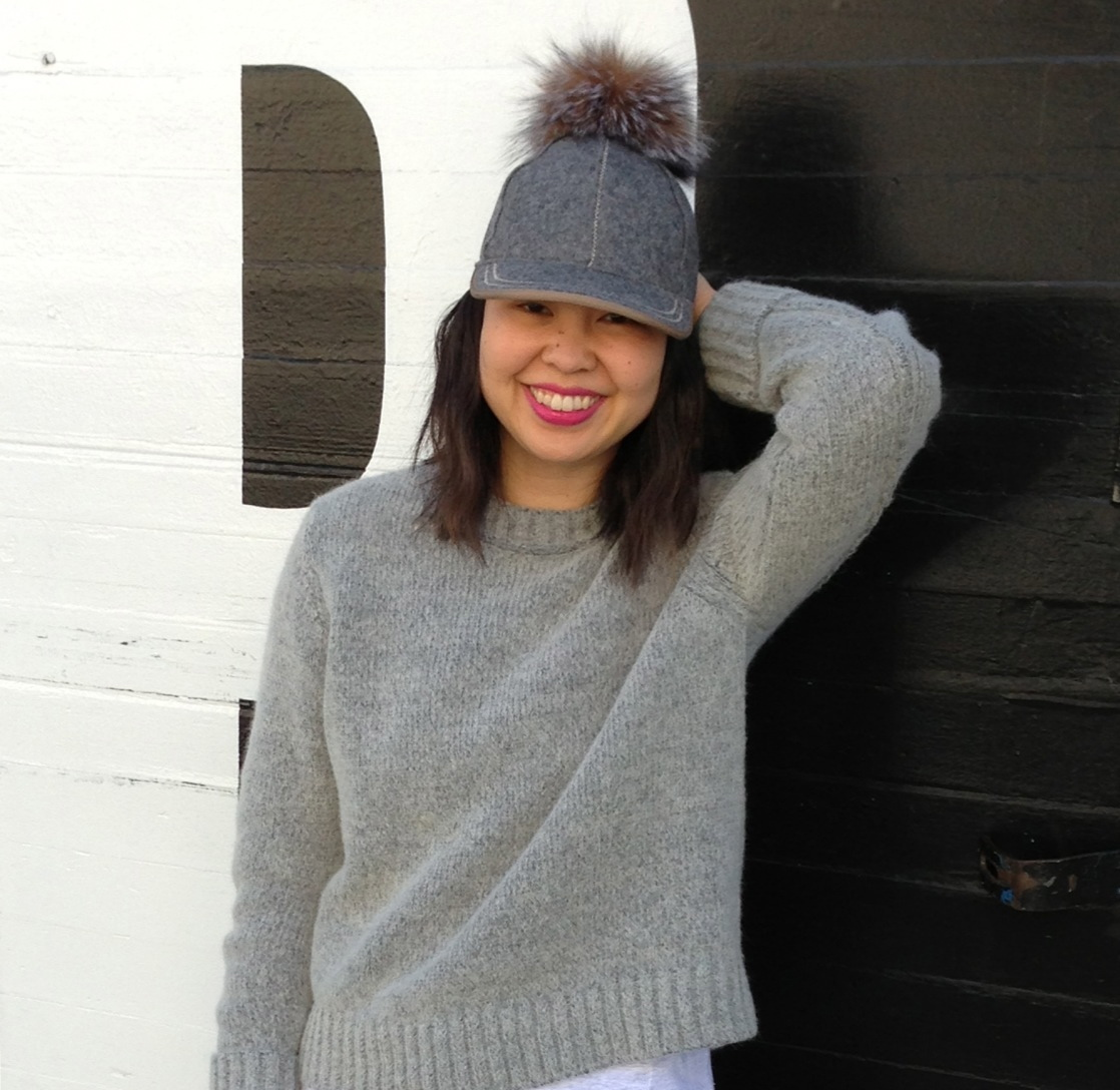 b12eb9f376d fur pom hat – WHAT HELEN WORE TODAY