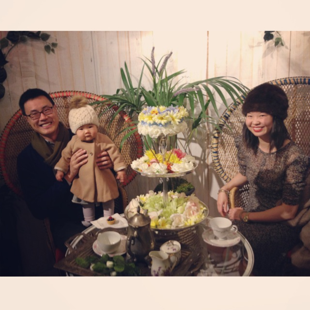 A family tea party at Mulberry Wonderland