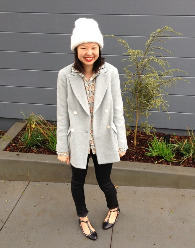 steven alan delphine coat in sky grey
