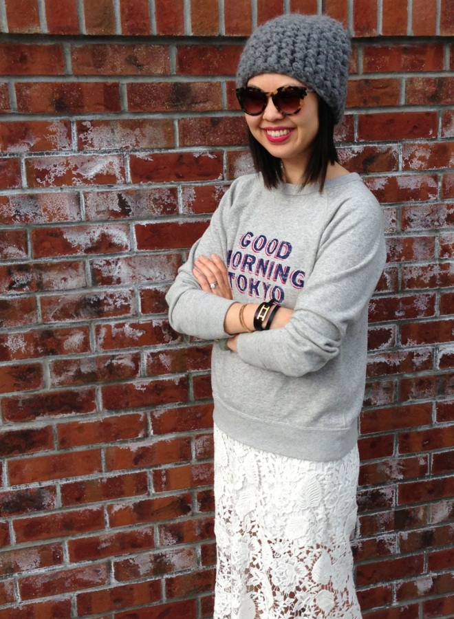 good morning tokyo sweatshirt by etoile by isabel marant