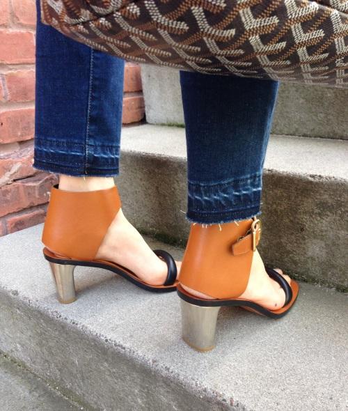 4cbb64f1 ... Celine bam bam sandals with Goyard tote bag and Frame Denim garçon jeans