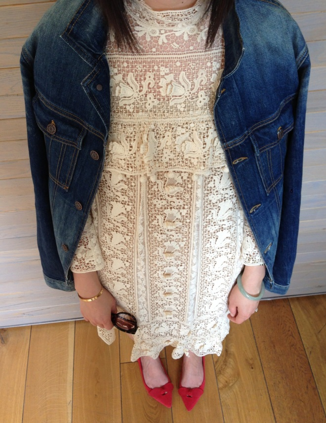 isabel marant lace dress details