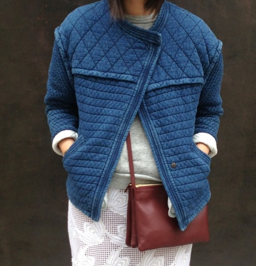 etoile by isabel marant kandisa quilted denim jacket