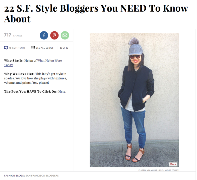 22 SF Style Bloggers You Need To Know About