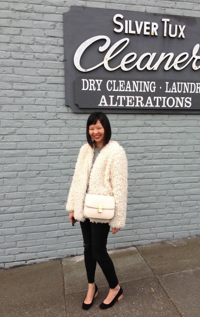 h&m trend faux fur jacket