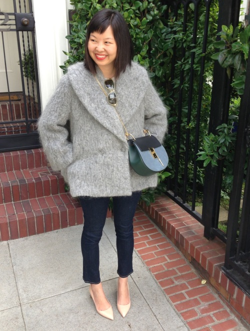 hm trend grey mohair jacket