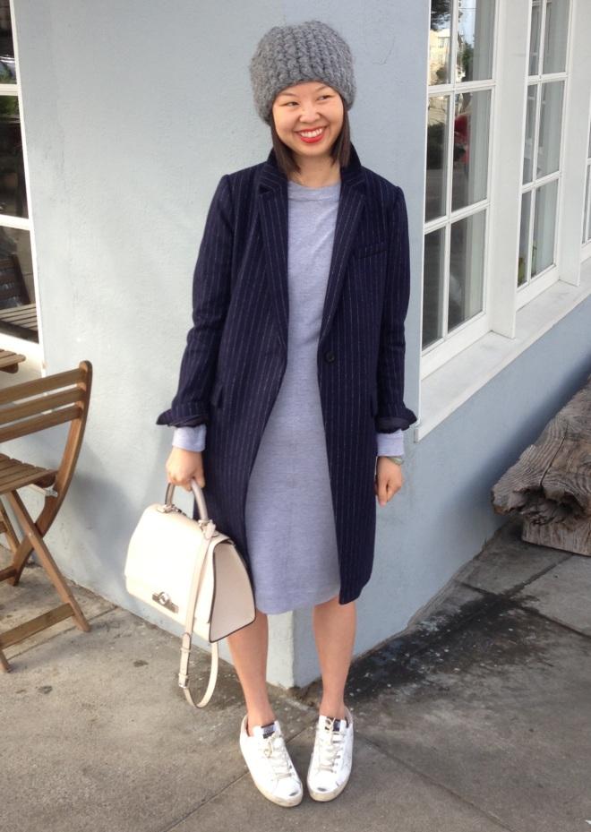 heidi merrick heather grey orvis terry knit dress