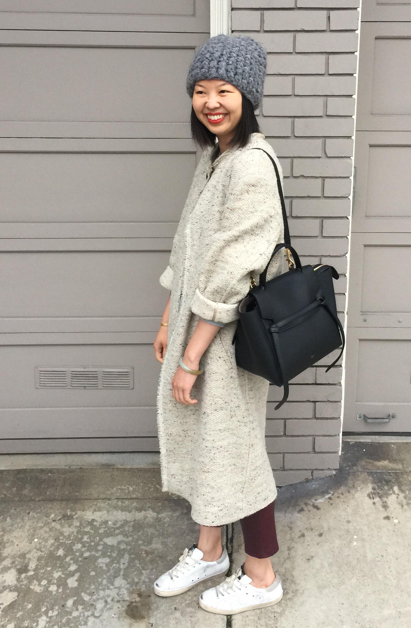 celine grey leather handbag belt
