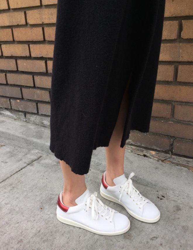 Isabel Marant kiara skirt and bart sneakers