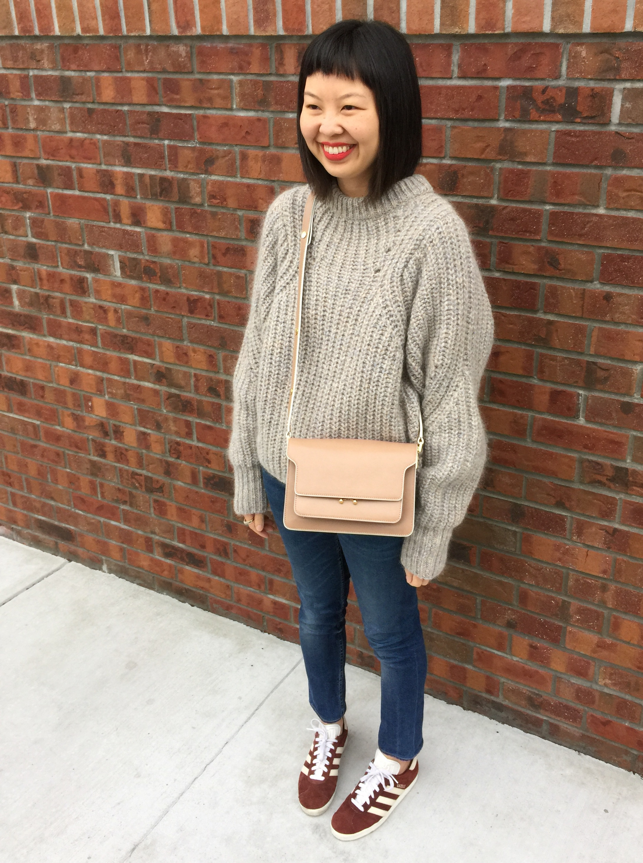 0573b3f4cd7a ... bag in nude isabel marant oversized knit newt sweater ...
