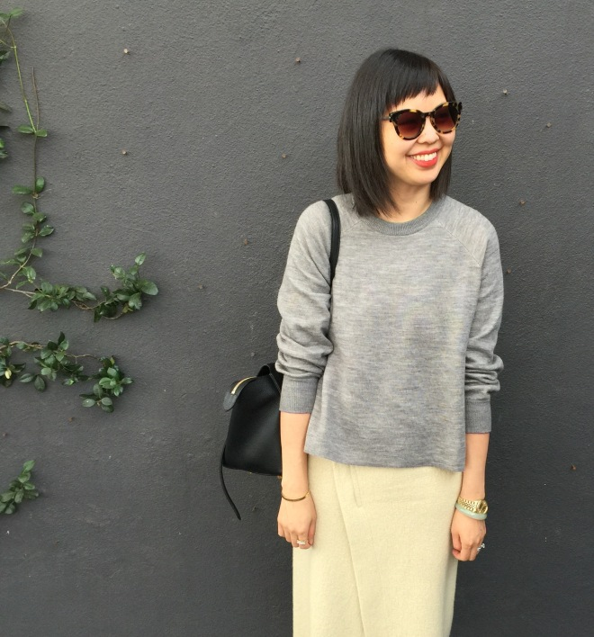 J Crew merino wool side slit sweater