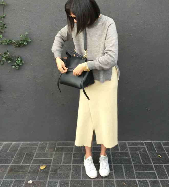 Isabel Marant kiara ivory wrap skirt