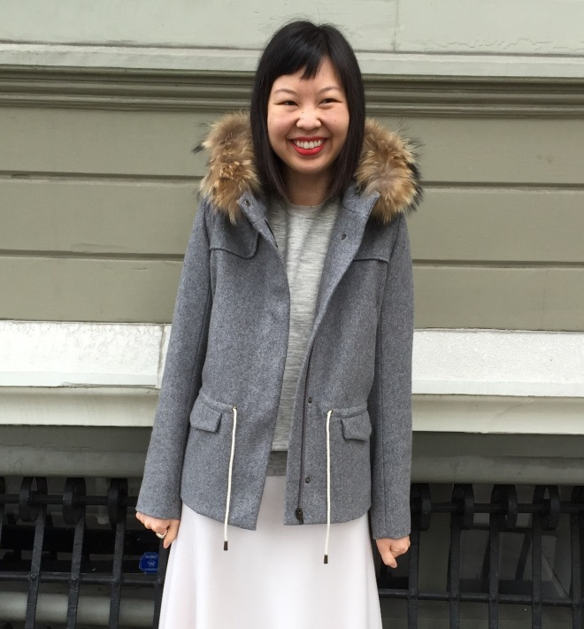 ba&sh fur hooded jacket