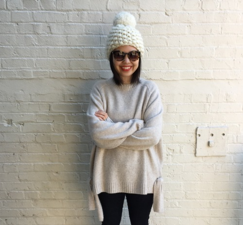 thierry lasry sunnies and tibi side tie sweater