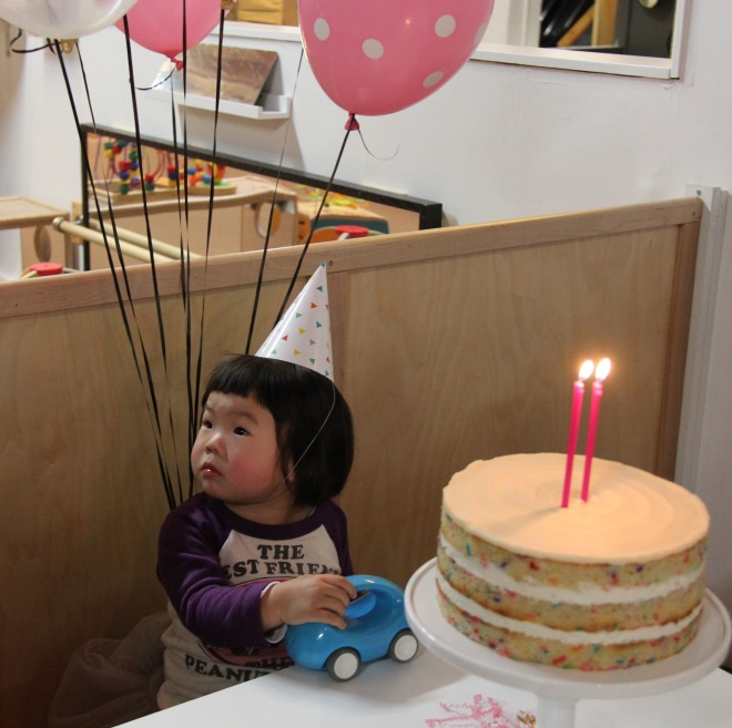 Marni's 2nd birthday funfetti cake