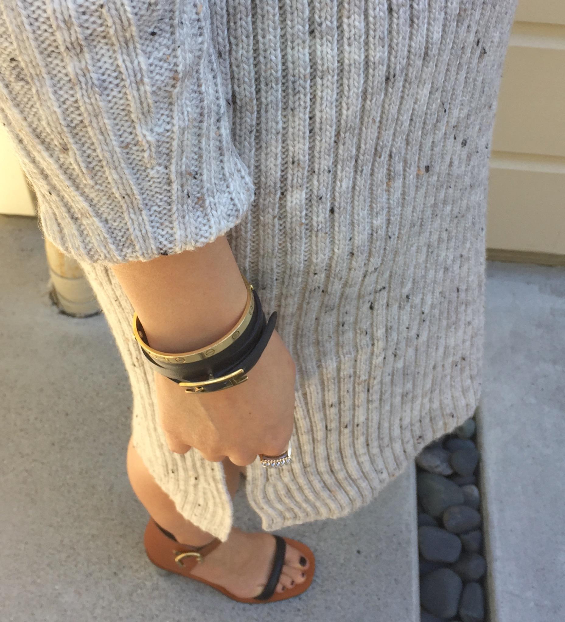 d8e3142c ... goyard bag and celine bam bam sandals ribbed sweater dress details ...