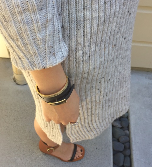 ribbed sweater dress details
