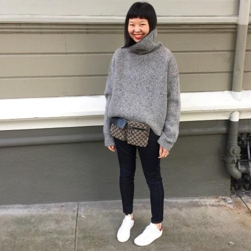 celine oversized turtleneck sweater