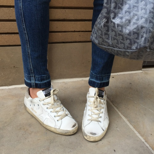 golden goose sneakers and stella mccartney simone jeans