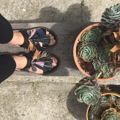isabel marant tassel embellished clay sandals