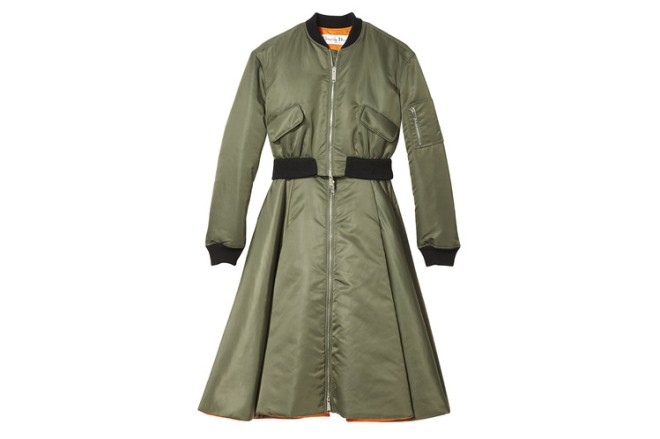 Dior olive flight evening coat