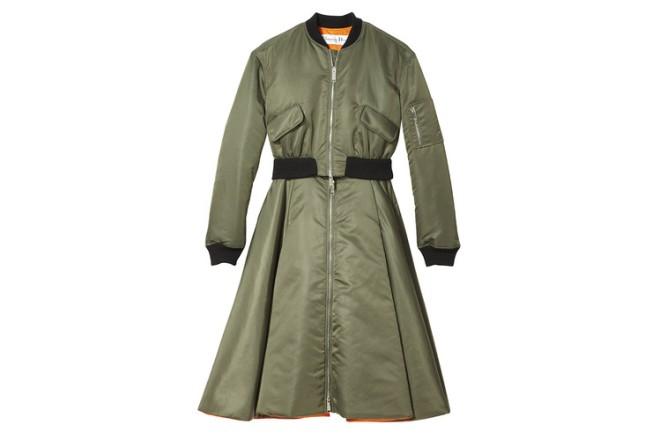 Dior olive flight evening coat