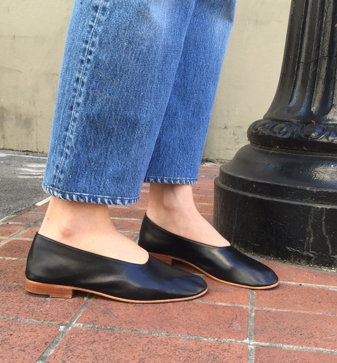 black Martiniano glove flats