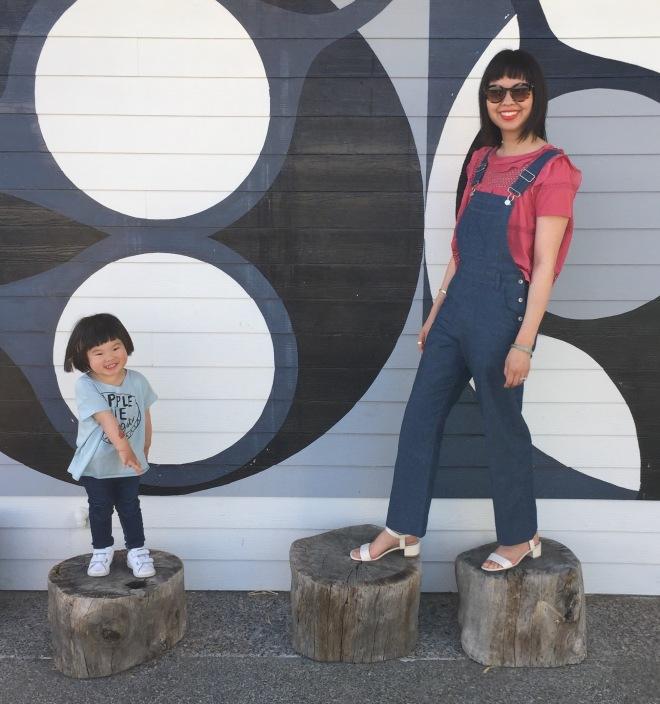 marni and me on the stumps