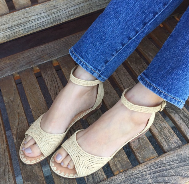 Carrie Forbes moha raffia sandals in natural