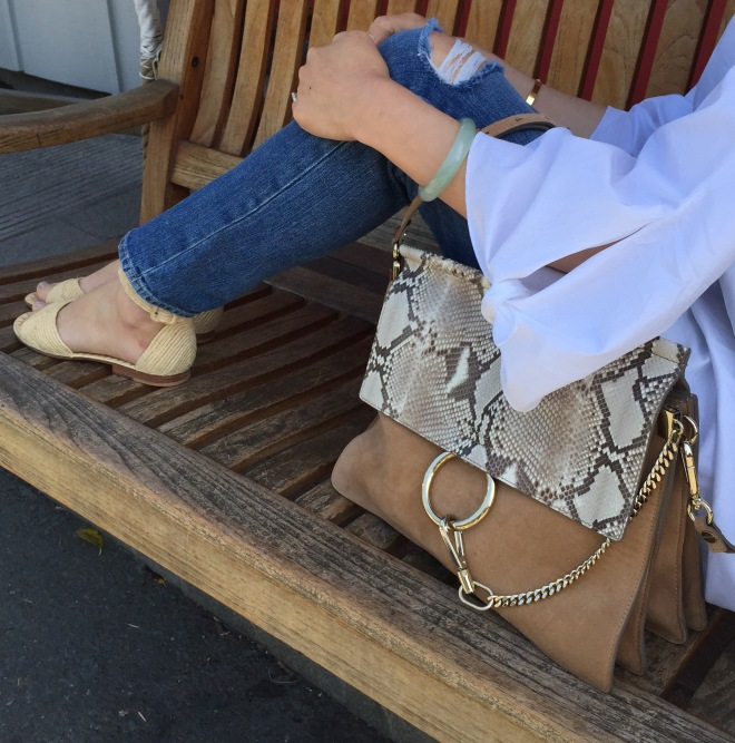 Chloe Faye bag in beige and snakeskin