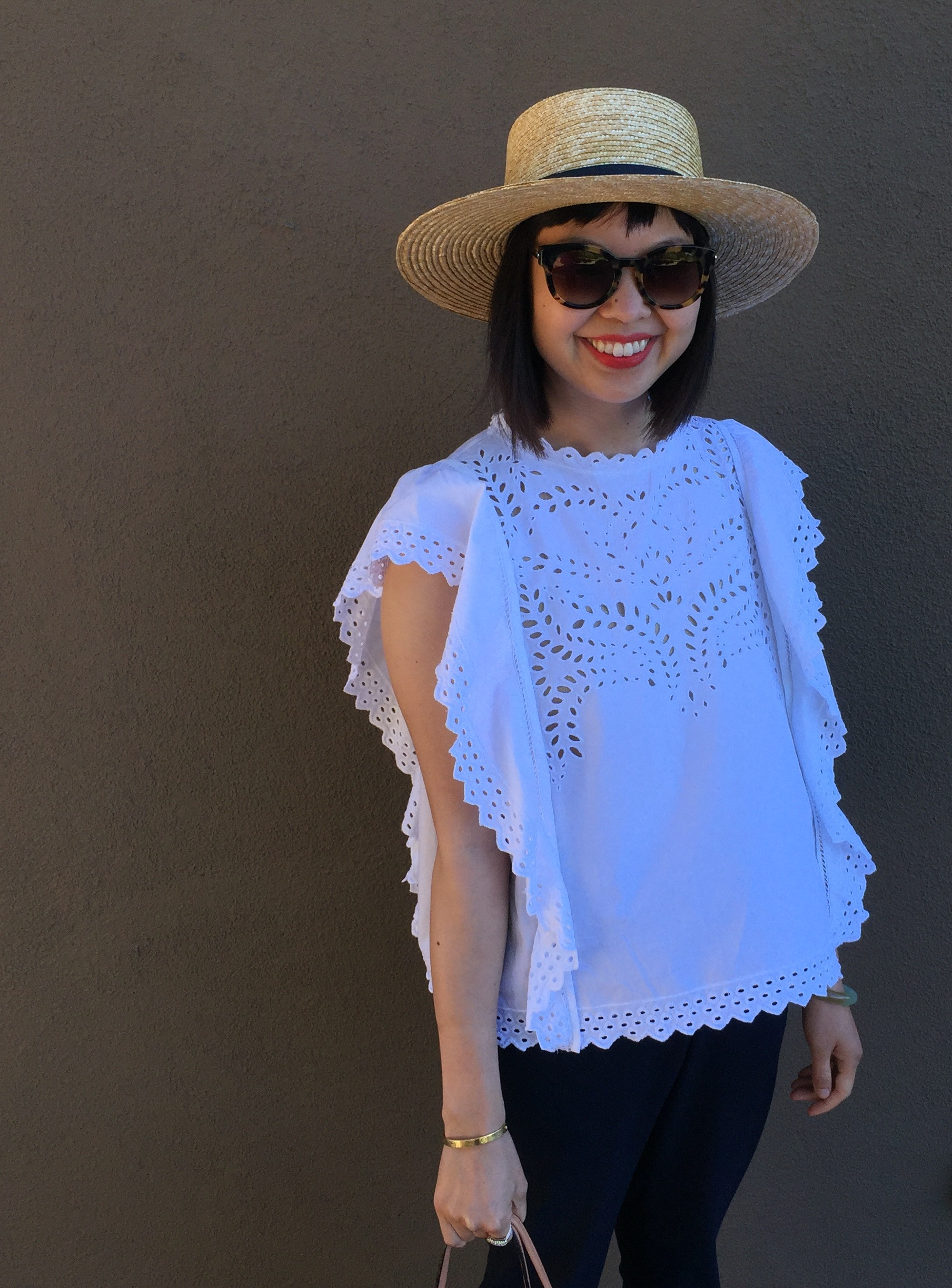 7c0a7308bc6 ... etoile by isabel marant salvia top details etoile by isabel marant  salvia top and janessa leone klint straw hat ...