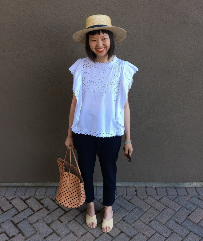 etoile by isabel marant salvia top and janessa leone klint straw hat