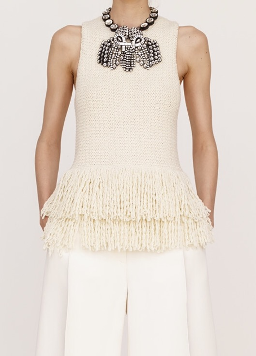 Celine fringe top